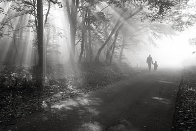 Walk In The Light Art Print by Floriana Barbu