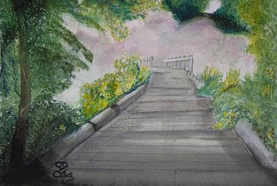 Painting - Walk In The Mist by Carole Robins