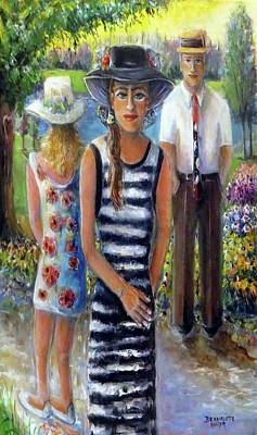 Painting - Walk In The Park by Bernadette Krupa
