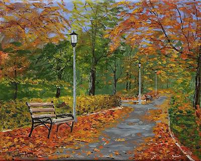 Painting - Walk In The Park by Mike Caitham