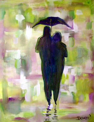 Painting - Walk In The Rain #34 by Raymond Doward