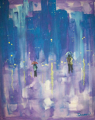 Painting - Walk In The Rain #35 by Raymond Doward