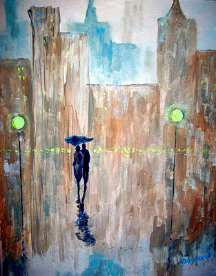 Painting - Walk In The Rain #36 by Raymond Doward