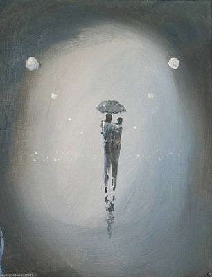 Painting - Walk In The Rain #37 by Raymond Doward