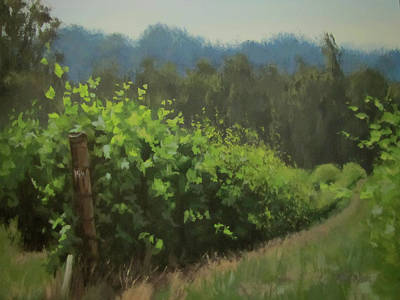 Painting - Walk In The Vineyard by Karen Ilari