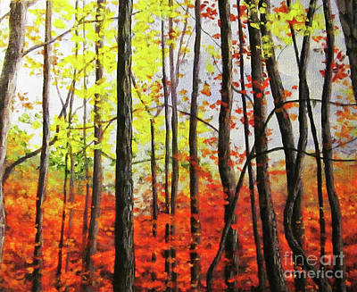 Painting - Walk In The Woods by Anne Marie Brown
