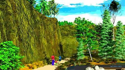 Digital Art - Walk In The Woods by Bob Shimer