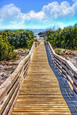 Photograph - Walk Into The Beach Island Art by Debra and Dave Vanderlaan
