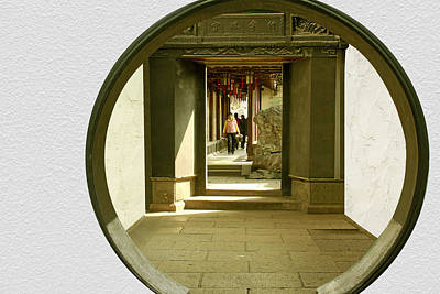 Entrance Door Photograph - Walk Into The Light - Yuyuan Garden Shanghai China by Christine Till