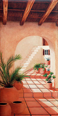 Steps Painting - Walk Into The Light - Prints Made From Original Oil Paintings By Mary Grden by Mary Grden Fine Art Oil Painter Baywood Gallery
