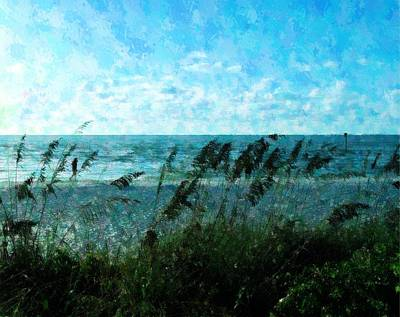 Mixed Media - Walk On The Beach by Florene Welebny