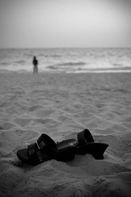 Walk On The Beach Art Print by Sebastian Musial