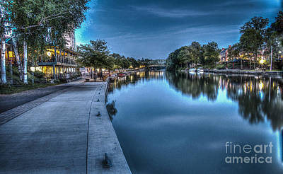 Walk On The Canal Art Print
