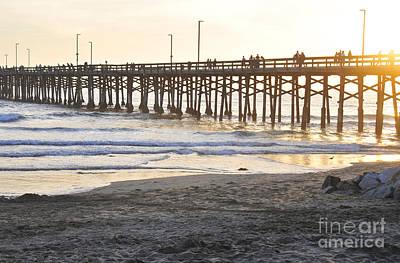 Photograph - Walk On The Pier by Robert WK Clark