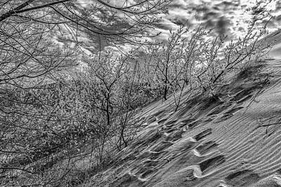 Photograph - Walk The Dunes Black And White  by John McGraw