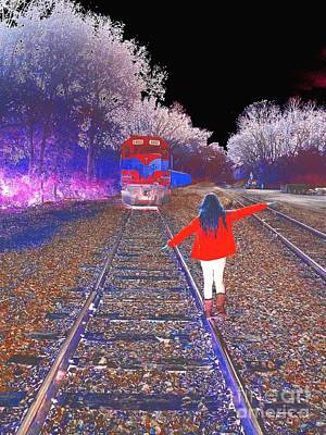 Fuzzy Digital Art - Walk The Line - Abstract Art  by Scott D Van Osdol