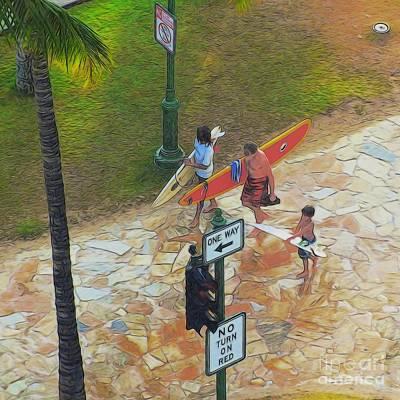 Waikiki Photograph - Walk This Way by Scott Cameron