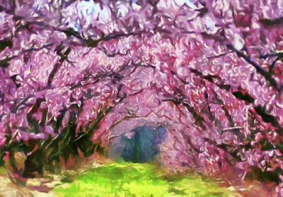 Painting - Walk Through Blossom Trees by Georgiana Romanovna