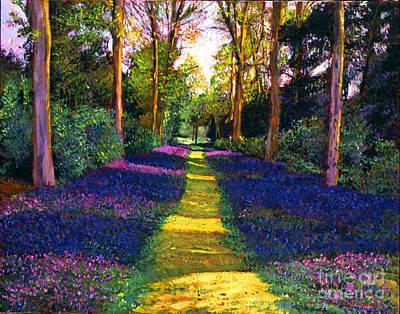 Pathway Painting - Walk Through Blue by David Lloyd Glover