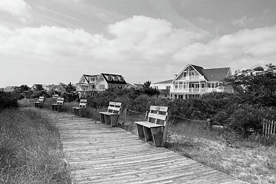 Photograph - Walk Through The Dunes In Black And White by Richard Goldman