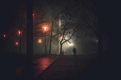 Photograph - Walk To Nowhere. Misty Nights In Brno by Jenny Rainbow