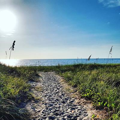 Grass Photograph - Walk To The Beach by Ric Schafer