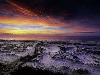 Photograph - Walk To The Colored Sky by Michael Thomas