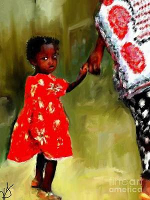 Mixed Media - Walk With Mama by Vannetta Ferguson