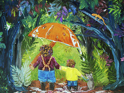 Newts Painting - Walk With Me by Alison Vernon