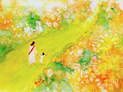 Painting - Walk With You by Wonju Hulse