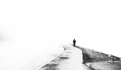 Photograph - Walker And The Fog by John Williams
