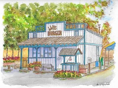 Walker Burger In Walker, California Art Print
