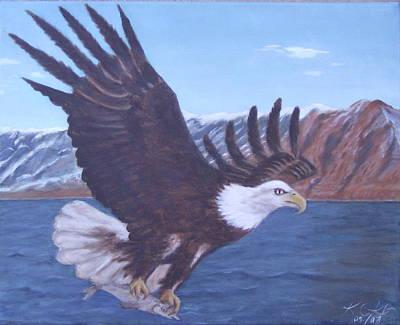 Walker Lake Art Print by KC Knight