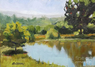 Painting - Walker Ranch Pond by Barbara Oertli