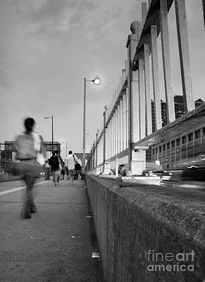 Photograph - Walkers, Brooklyn Bridge, Nyc #130508 by John Bald