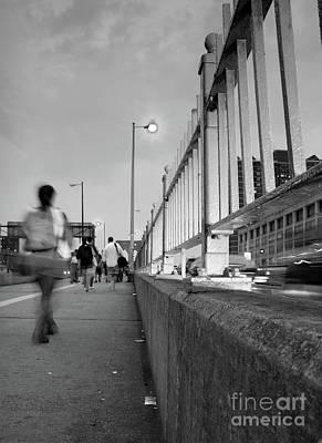 Photograph - Walkers, Brooklyn Bridge, Nyc #130508 by John Bald