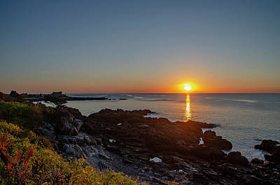 Walkers Point - Sunrise In Kennebunkport Maine Art Print