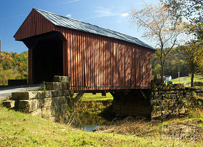 Fine Dining - Walkersville Covered Bridge 1 by Howard Tenke