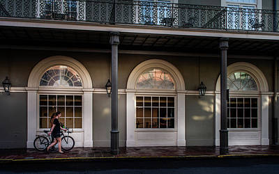 Photograph - Walking A Bike In The French Quarter by Greg Mimbs