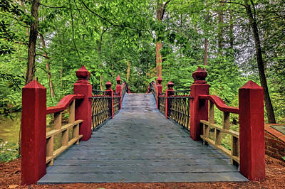 Photograph - Walking Across Crim Dell Bridge by Jerry Gammon