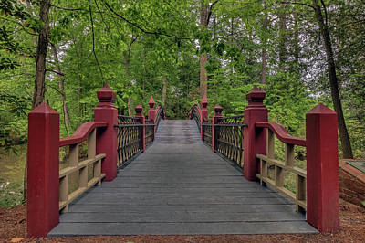 Photograph - Walking Across The Crim Dell Bridge by Jerry Gammon