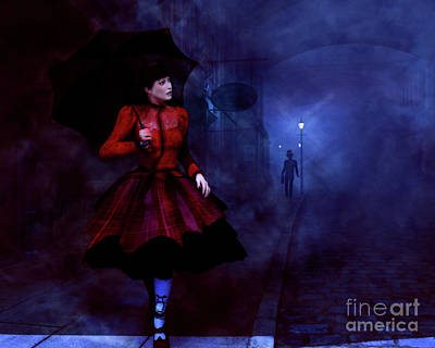 Art Print featuring the digital art Walking After Midnight by Methune Hively