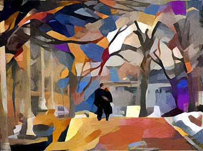 Digital Art - Walking Alone by Yury Malkov