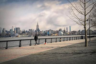 Photograph - Walking Along Hoboken's Hudson River Waterfront Walkway by Dyle Warren