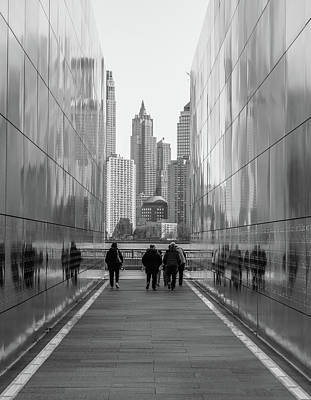 New York Photograph - Walking Along by Med Studio