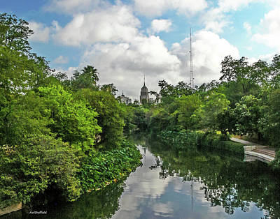 Photograph - Walking Along The San Antonio River by Allen Sheffield