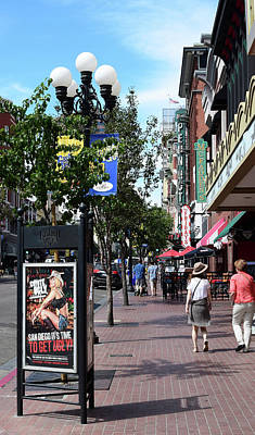 Gas Lamp Photograph - Gas Lamp Quarter Downtown San Diego by Robert VanDerWal