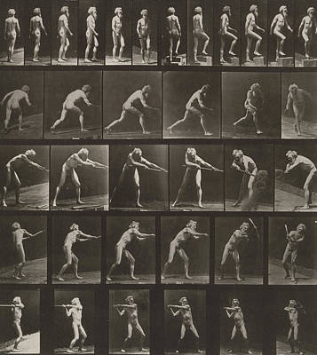 1887 Photograph - Walking, Ascending, Throwing by Eadweard Muybridge