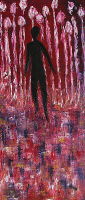 Spine Painting - Walking Away by Marianna Mills