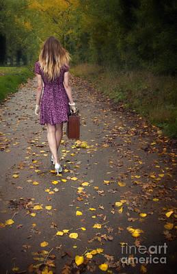 Thomas Kinkade Rights Managed Images - Walking Away Royalty-Free Image by Svetlana Sewell
